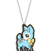 Tasty Peach Studios — Blue Flower Fawn Necklace