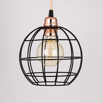 Sphere Shaped Vintage Edison Light Bulb Cage for Pendant Lights *Bulb Cage Only