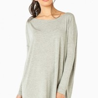 COZY TUNIC IN LIGHT GREY BY PIKO