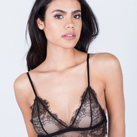 Lovely Floral Lace Bralette