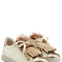 Brunello Cucinelli - Leather Sneakers with Fur