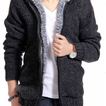 Fur Lining Thicken Hoodies Sweaters - 5 Colors