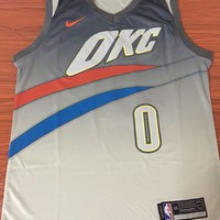 Oklahoma City Thunder #0 Russell Westbrook City Edition Jersey