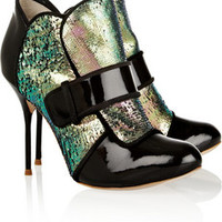 Sophia Webster Amis metallic and patent-leather ankle boots – 50% at THE OUTNET.COM