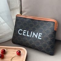 Celine men's and women's wild clutch bag file bag cosmetic bag