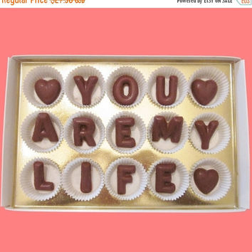 Anniversary Gifts for Boyfriend Men Gift Valentines Day Gift for Girlfriend Boyfriend Her Him Cute You Are My Life Chocolate Letter Message