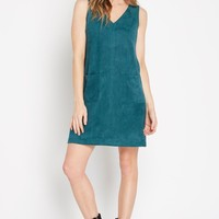 Mod Faux Suede Shift Dress
