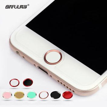 BINFUL Colorful Touch ID Home Button Sticker For iPhone 5 5S 6 7 8 plus 6s 6s plus Boto para pegatina Fingerprint Identification