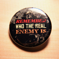 Remember Who The Real Enemy Is - Hunger Games // 1.25 inch button
