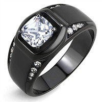 WildKlass Stainless Steel Ring IP Men AAA Grade CZ Clear