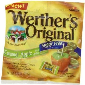 Werther's Original Sugar Free Caramel, Apple, 2.75-Ounce (Pack of 6)