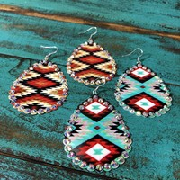 Metal Aztec earrings