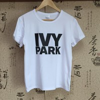 Hillbilly IVY Park Funny Printed Women Tshirt Printed Loose Oversize Summer Top Harajuku Short Sleeved Tshirt Women Tumblr Brand