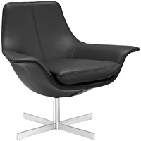 Release Bonded Leather Lounge Chair Black