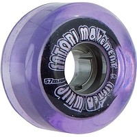 Satori Lifted Whip Cruiser 57mm 78a Clear Purple Skate Wheels