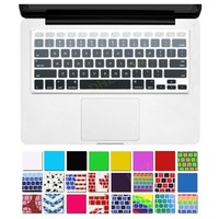 """DHZ® Grey Ombre Colors Keyboard Cover Silicone Skin for MacBook Pro 13"""" 15"""" 17"""" (with or w/out Retina Display) iMac and MacBook Air 13"""" (Mix Grey Ombre)"""