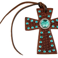 Rhinestone Tie On Cross
