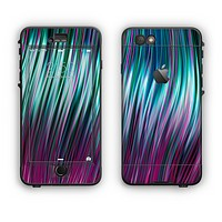 The Pink & Blue Vector Swirly HD Strands Apple iPhone 6 LifeProof Nuud Case Skin Set