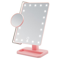 Miss Sweet Led Mirror Tabletop Makeup Mirror Cosmetic Mirror Movable Mirror (Pink)