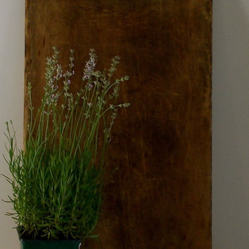 Vintage Wooden Bread Board, Large Cutting Board, Country Kitchen Decor
