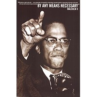 Malcolm X By Any Means Necessary Quote Poster 24x36