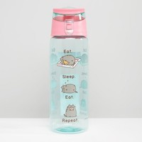 Pusheen Eat Sleep Eat Repeat Water Bottle at asos.com