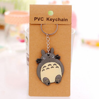 keychain Totoro Doraemon Baymax key chain Minions Iron Man car motorcycle key ring holder diy keyring Pendant chaveiros llaveros