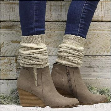 ECO FRIENDLY -  striped slouch boot socks