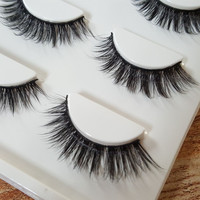 Sexy 100% Handmade 3D mink hair Beauty Thick Long False Mink Eyelashes Fake Eye Lashes Eyelash High Quality Free shipping3d-15
