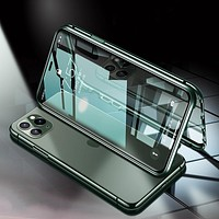 Magnetic Tempered Glass Back Cover