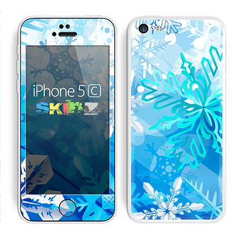 The Winter Abstract Blue Skin for the Apple iPhone 5c