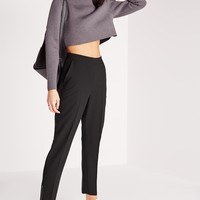 Missguided - Zip Ankle Cigarette Pants Black