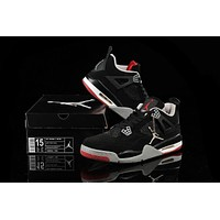 Big Size To Special You! Nike Air Jordan 4 Retro Aj4 Black Size Us 141516 | Best Deal Online