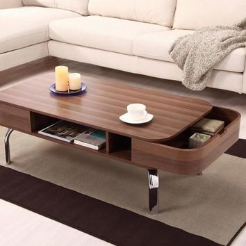 Modern Wood Coffee Table With Storage