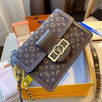 LV Classic Presby Jacquard Letter Shoulder Bag Crossbody Bag