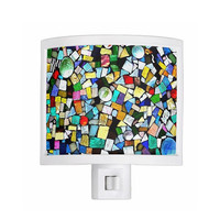 Night Light - Stained Glass, Mosaic, Mixed Media - kitchen, newlyweds, new home, bathroom, bedroom, gift idea - Made To Order - TMW1#73