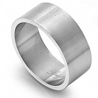 Unisex 10mm Engravable Stainless Steel Wedding Band