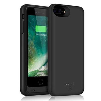 [11000mAh] iPhone 7 Plus Battery Case, Extended Battery Power Charger Portable Charging Cover for iPhone 7Plus (5.5inch) - Black