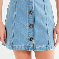BDG Horn-Button Denim Mini Skirt | Urban Outfitters