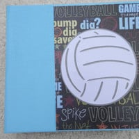 6x6 Volleyball Scrapbook Photo Album in Light Blue Binder