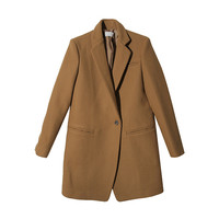 Welt Pocket Notched Collar Coat (Beige) | STYLENANDA
