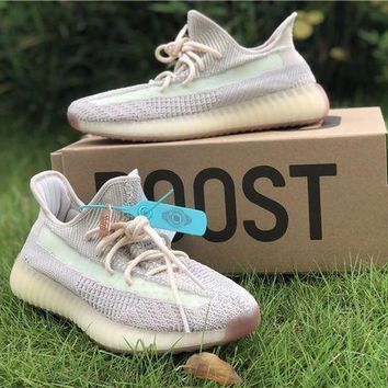 Adidas Yeezy Boost 350 V2 Citrin Sport Running Shoes DCCK