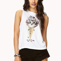 Ice Cream Kitty Muscle Tee
