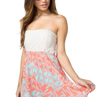 Aztec Brights Lace A-line Dress