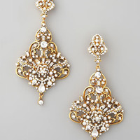 Gold & Crystal Chandelier Earrings