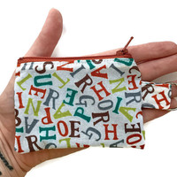 Keychain Zipper Pouch, Small Cloth Wallet, Keychain Coin Purse