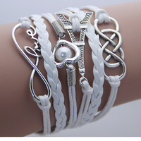 2014 new Fashion jewelry leather Double infinite multilayer bracelet factory price wholesales-in Charm Bracelets from Jewelry on Aliexpress.com | Alibaba Group