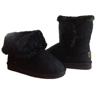 Single Button Fur Lined Ankle Snow Boots (6)