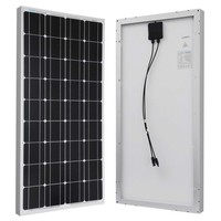 100-Watt Solar Panel Great for 12-Volt Battery Charging
