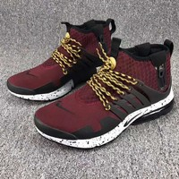 Nike Air Presto Woman Men Running High Top Sneakers Sport Shoes Wine red G-CSXY